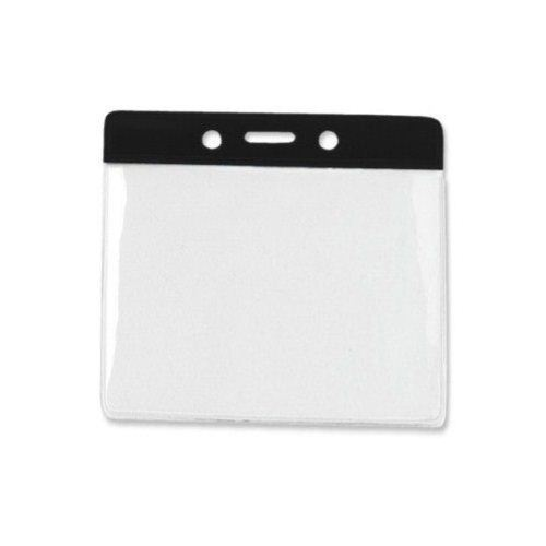 Black Extra Large Horizontal Color-Bar Badge Holders - 100pk (1820-1201) - $30 Image 1