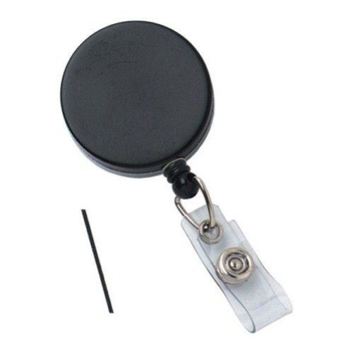 Black Heavy Duty Badge Reel with Nylon Wire Cord - 25pk (2120-3310) Image 1