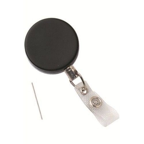 Black Heavy Duty Reinforced Badge Reel with Steel Wire Cord - 25pk (2120-3305) Image 1