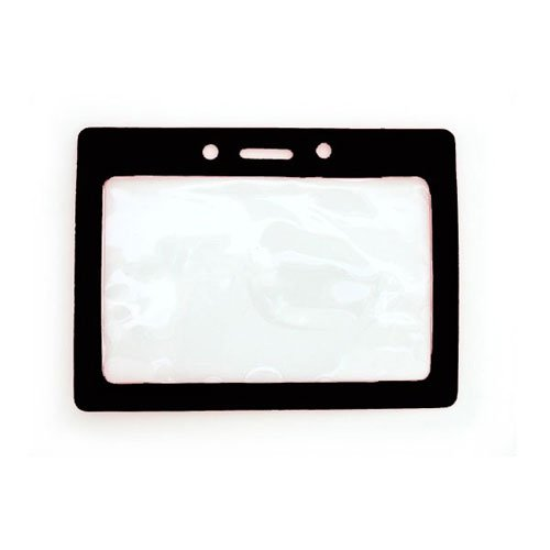 Horizontal Vinyl Color Frame Badge Holder Image 1