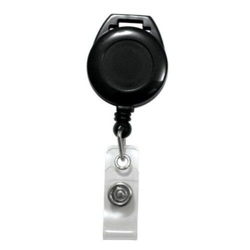 Black Lanyard Badge Reel with Clear Strap - 25pk (2120-7501) Image 1