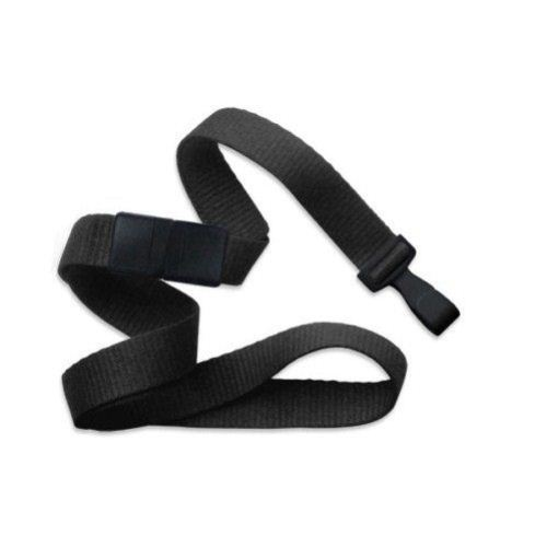 Black Microweave Break-Away Lanyard with Wide Plastic Hook - 100pk (MYID21384780) Image 1