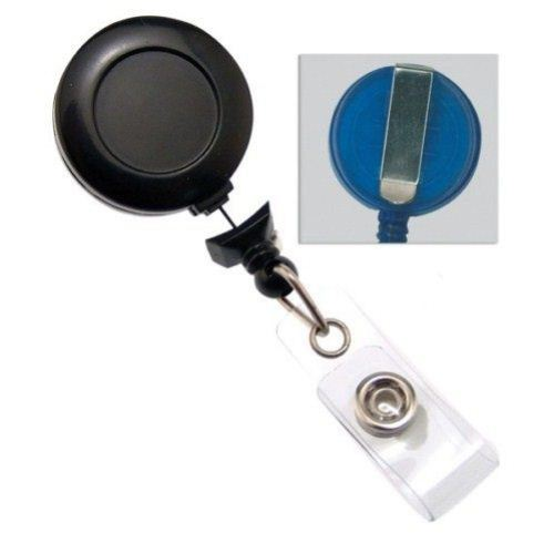 Black No-Twist Badge Reel with Belt Clip - 25pk (2120-3050)