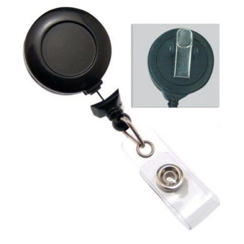 Black No-Twist Badge Reel with Swivel Clip - 25pk (2120-7640)
