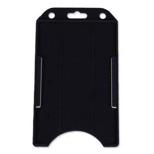 Black Open Face Vertical Rigid Badge Holders - 50pk (1840-8161) - $20.99 Image 1