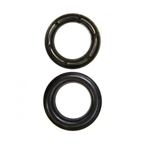 """ClipsShop #2 (3/8"""") Long Neck Self-Piercing Black Oxide Grommets - 500/Pack (05GROMMET2LNBK) Image 1"""