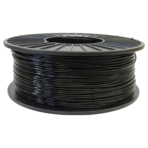 Black 1.75mm PLA Filament 2.5LB Spool (BLKPLAFSPOOL175) Image 1