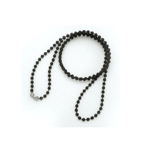 Black Plastic Bead Chain Image 1