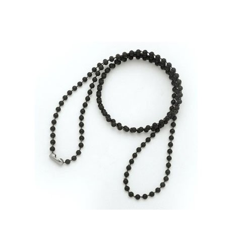 "36"" Black Plastic Beaded Neck Chain - 100pk (MYIDNMPL36BLK) Image 1"