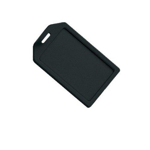 Black Rigid Plastic Heavy Duty Luggage Tag Holders - 100pk (1840-6201) Image 1