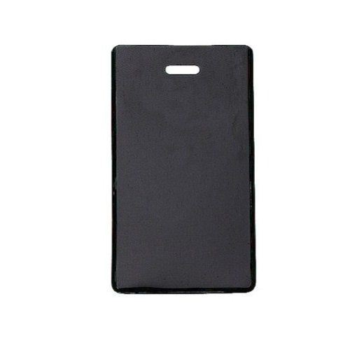 Black Semi-Rigid Vinyl Luggage Tag Holders - 100pk (1845-2001) Image 1