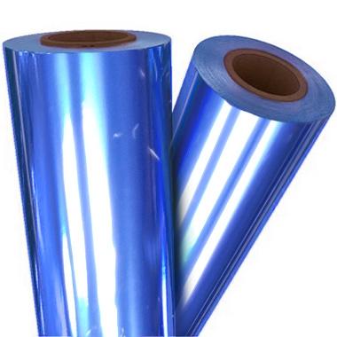 "Dark Blue Metallic 12"" x 500' Toner Fusing/Sleeking Foil - 3"" Core (BLU-85-3-12) Image 1"