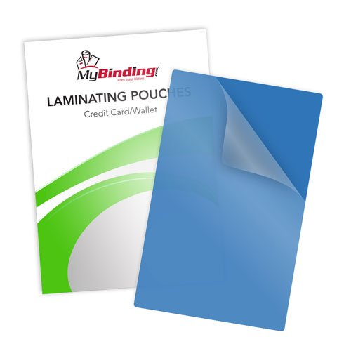 Blue 10mil Credit Card Laminating Pouches - 100pk (LKLP10CREDITBL)
