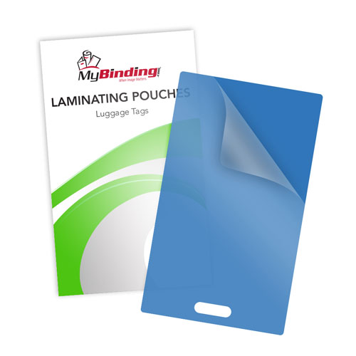 Blue 10mil Luggage Tag With Slot Laminating Pouches - 100pk (LKLP10LUGGAGEWSBL) Image 1