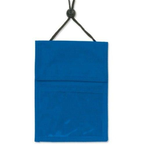 Blue 3-Pocket Credential Holder with Pen Pocket and Cord - 25pk (1860-2502) Image 1