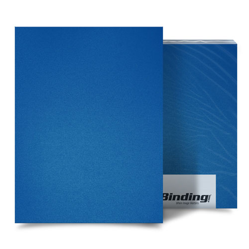 "Blue 35mil Sand Poly 8.5"" x 11"" Binding Covers - 25pk (MYMP358.5x11BL), Covers Image 1"