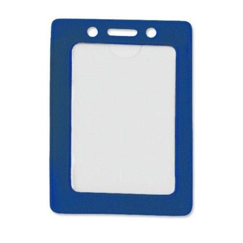 Blue Credit Card Size Vertical Colored Frame Badge Holders - 100pk (1820-3002) Image 1