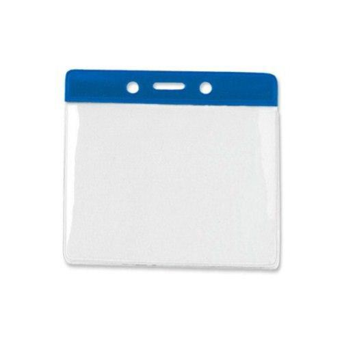 Blue Extra Large Horizontal Color-Bar Badge Holders - 100pk (1820-1202) - $30 Image 1