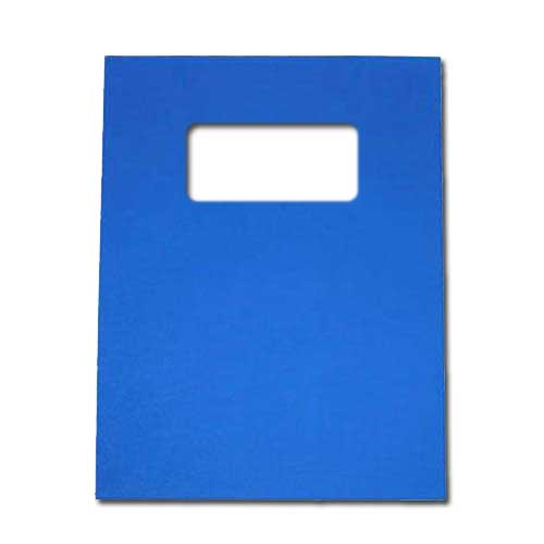 """16mil Blue Leather Grain Poly 8.5"""" x 11"""" Covers With Windows (50 sets) (AKCLT16CSBL01W), MyBinding brand Image 1"""