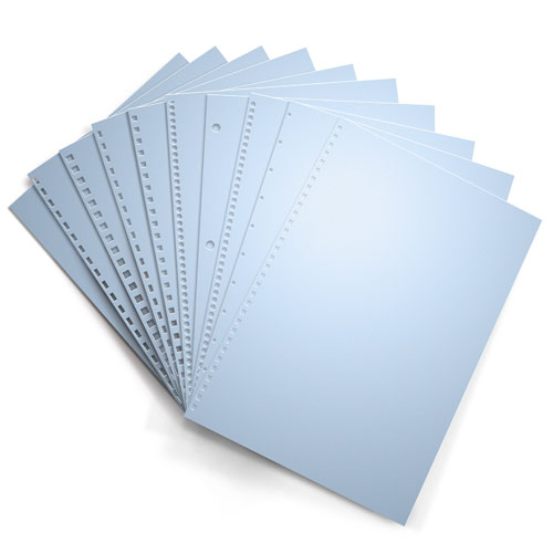 Pastel Blue 20lb Punched Binding Paper - 500 Sheets (PPP20DMBL)