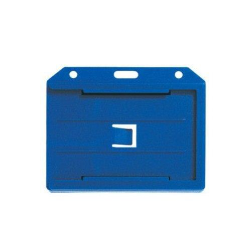 Blue Open Face 2-Sided Horizontal Rigid Card Holders - 50pk (1840-3052) - $30.99 Image 1