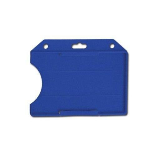 Blue Rigid Open Face Horizontal Badge Holders Image 1