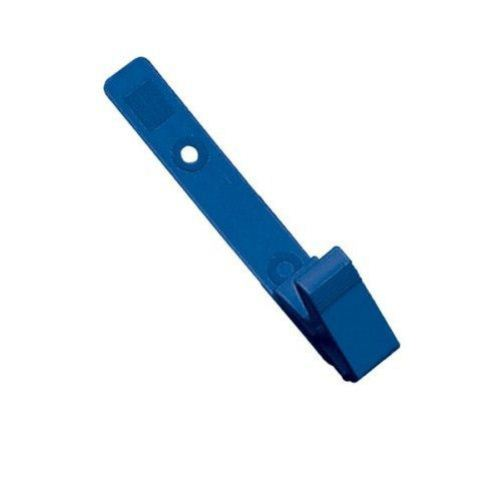 Blue Plastic Straps with Knurled Thumb-Grip Clips - 100pk (2115-2002) Image 1