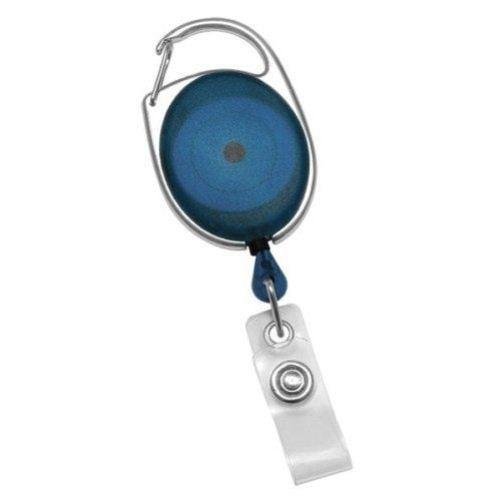 Blue Premier Translucent Carabiner Style Badge Reel - 25pk (2120-7052) Image 1