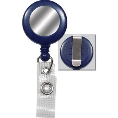 Blue Reinforced Badge Reel w Silver Sticker and Belt Clip - 25pk (2120-3102) Image 1