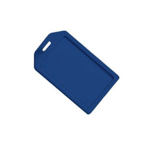 Blue Rigid Plastic Heavy Duty Luggage Tag Holders - 100pk (1840-6202) Image 1