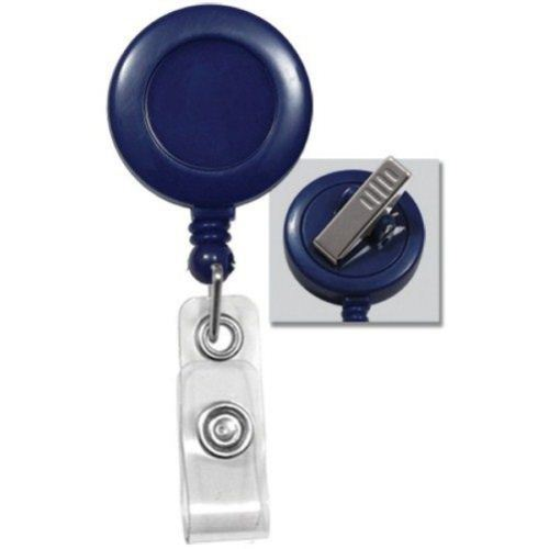 Blue Round Badge Reel and Swivel Spring Clip 25pk (2120-7602) Image 1