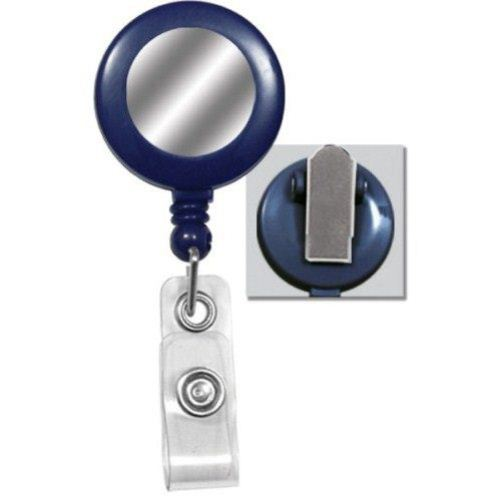 Blue Round Badge Reel with Sticker Image 1