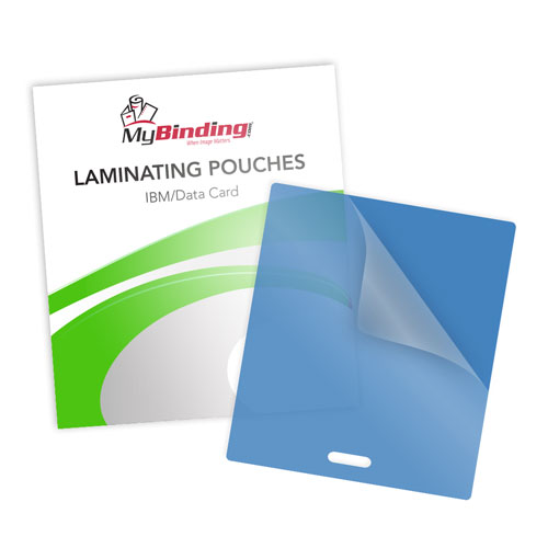 Blue Laminating Pouches with Slot Image 1