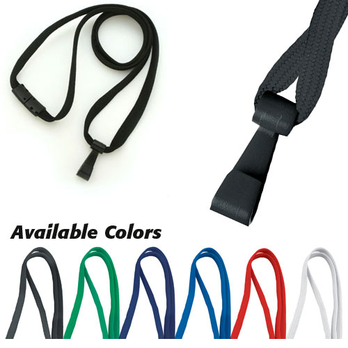 "Breakaway Lanyard with Twist-Free Wide Plastic Hook - 3/8"" - 100pk (MYTFWPH38BL) - $44.01 Image 1"