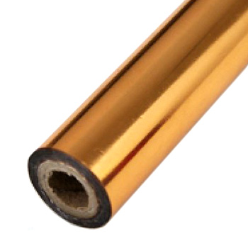 "3"" x 200' Brilliant Copper Hot Stamp Foil Roll (1/2"" Core) (MYBF2253X200F) Image 1"