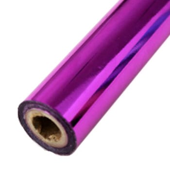 "2"" x 200' Brilliant Fuchsia Hot Stamp Foil Roll (1/2"" Core) (MYBF2142X200F) Image 1"