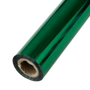 "2"" x 200' Brilliant Green Hot Stamp Foil Roll (1/2"" Core) (MYBF2432X200F) - $17.59 Image 1"