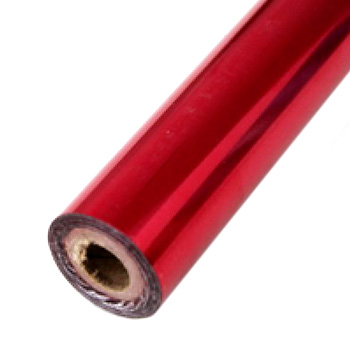"2"" x 200' Brilliant Red Hot Stamp Foil Roll (1/2"" Core) (MYBF2482X200F) - $17.59 Image 1"