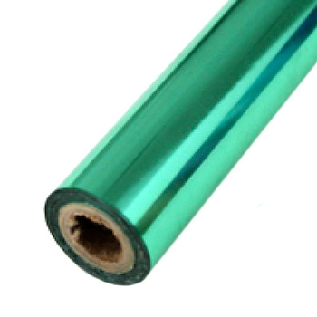 "4"" x 200' Brilliant Sage Green Hot Stamp Foil Roll (1/2"" Core) (MYBF2444X200F) - $29.79 Image 1"