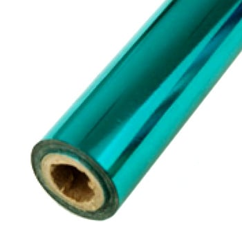 "3.5"" x 200' Brilliant Turquoise Hot Stamp Foil Roll (1/2"" Core) (MYBF2103.5X200F) Image 1"