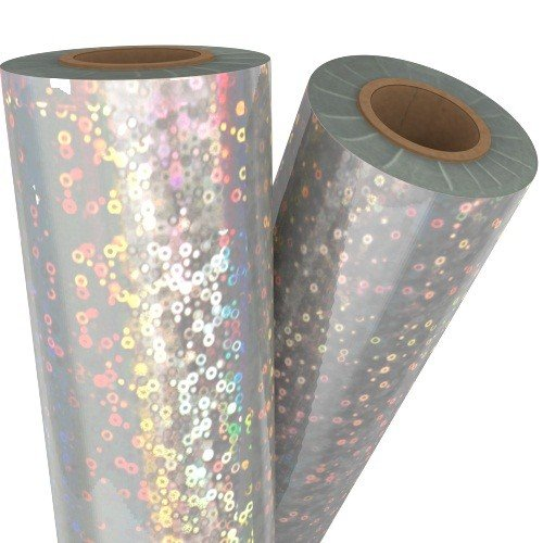 Bubbles Silver Holographic 24