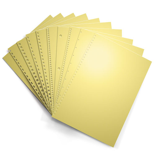 Buff 20lb Punched Binding Paper - 500 Sheets (PPP20DMBU) Image 1