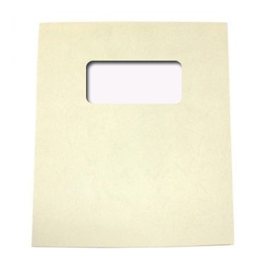 "Buffalo Board 10mil Beige 8.5"" x 11"" Covers With Windows - 100 Sets (TCBB85X11BIW) Image 1"