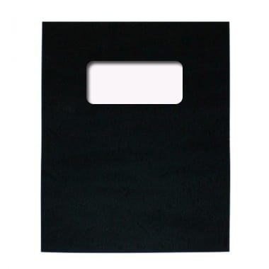 "Buffalo Board 10mil Black 8.5"" x 11"" Covers With Windows - 100 Sets (TCBB85X11BKW) Image 1"
