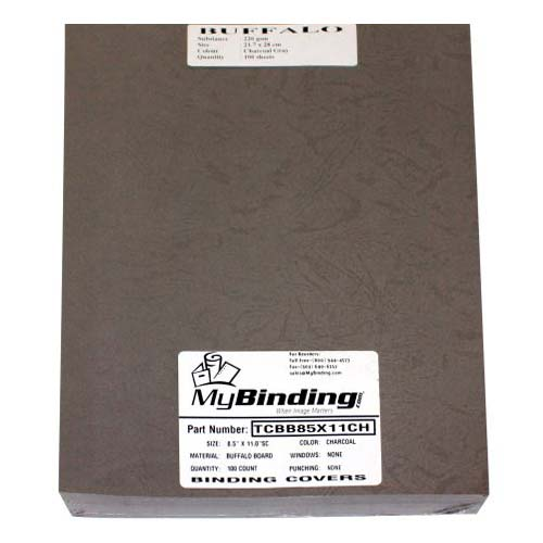 Charcoal Buffalo Board Binding Covers Image 1