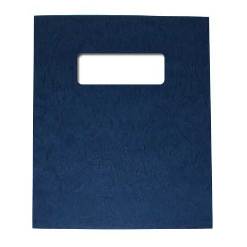 "Buffalo Board 10mil Charcoal 8.5"" x 11"" Covers With Windows - 100 Sets (TCBB85X11CHW) Image 1"