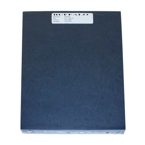 "Buffalo Board 10mil Navy 8.5"" x 11"" Covers - 100pk (TCBB85X11NV) Image 1"