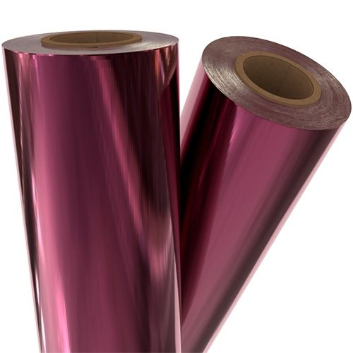 "Burgundy Metallic 12"" x 500' Toner Fusing/Sleeking Foil - 3"" Core (RED-41-3-12) Image 1"