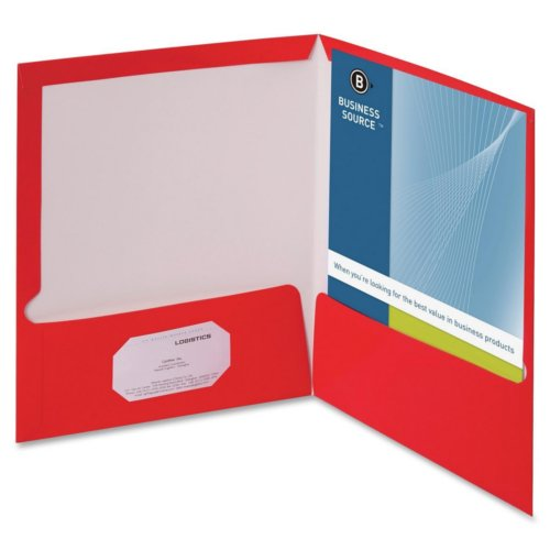 Letter Size Laminated Two Pocket Folders Image 1