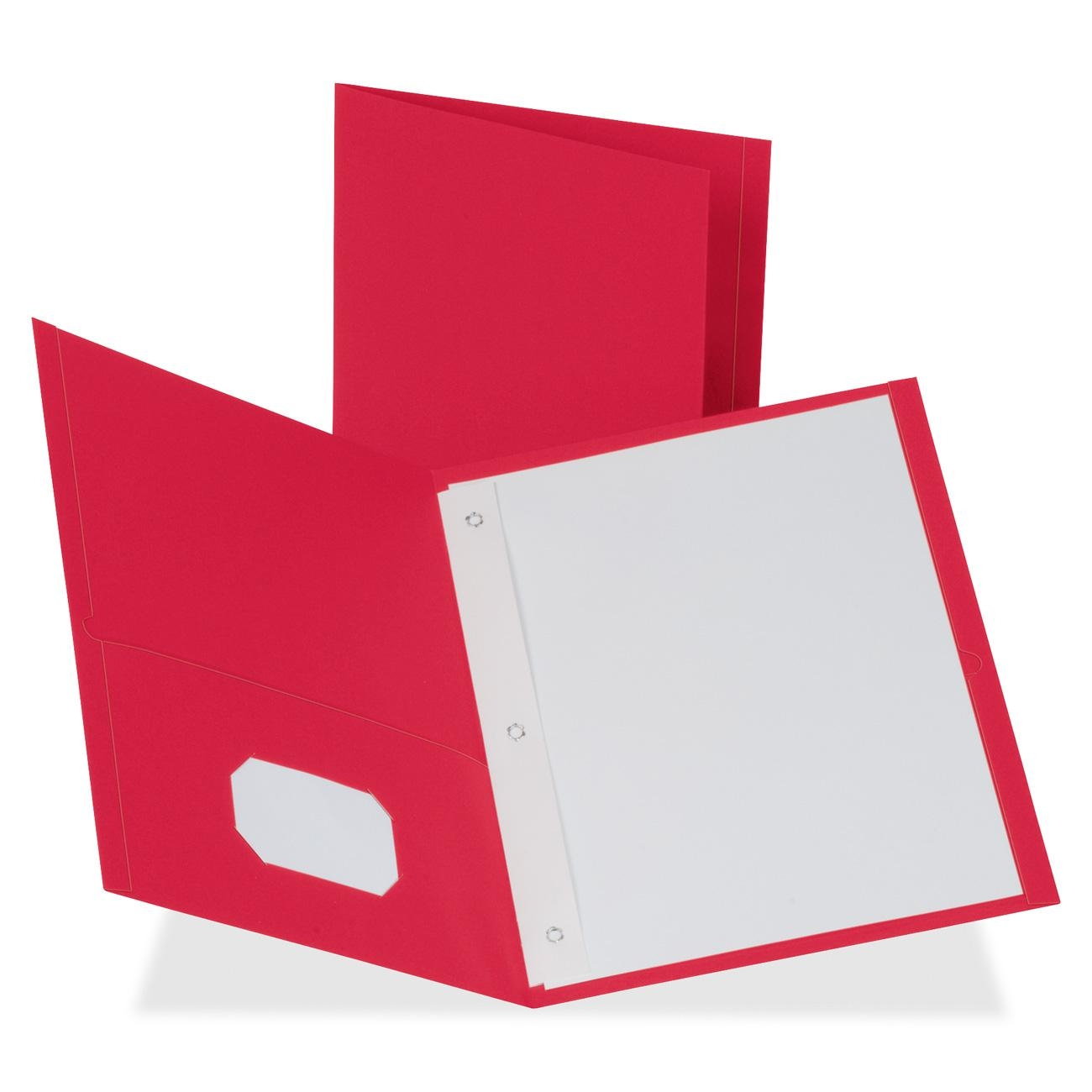 Red Leatherette Cover Paper Image 1